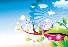 Floral color  design Stock Photos