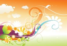 Floral color  design Stock Photo