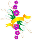Floral color ornament Stock Image