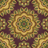 Floral color pattern. Floral color pattern of mandalas. Vector oriental ornament. Template for textile, rug, carpet, shawl Stock Photo