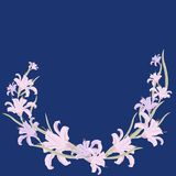 Floral color pattern of woven lilies and leaves. Vector illustration. royalty free illustration