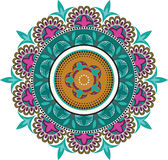 Floral color patterns. In a circle Royalty Free Stock Images