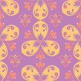 Floral colored seamless pattern. Bright background. For wallpapers, textile and fabrics Royalty Free Stock Photography