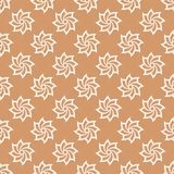 Floral colored seamless pattern. Brown and white background with fower elements for wallpapers.  Royalty Free Stock Photos