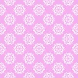 Floral colored seamless pattern. Violet pink background with fower elements for wallpapers.  Royalty Free Stock Image