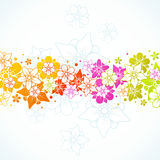 Floral colorful background. Vector floral colorful horizontal background Stock Image