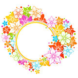 Floral colorful frame vector illustration