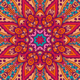Floral colorful mandala vector ethnic pattern. Abstract floral festive colorful mandala vector ethnic tribal pattern Royalty Free Stock Image