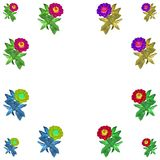 Floral colorful pattern background set Royalty Free Stock Images