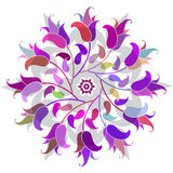 Floral colorful round pattern Stock Photos