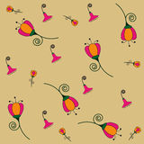 Floral colorful seamless pattern. Royalty Free Stock Photography