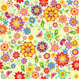 Floral colorful wallpaper Royalty Free Stock Image