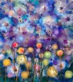 Floral colorido abstracto, pintura de la acuarela Fotografía de archivo libre de regalías
