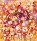 Floral colorido abstracto, pintura de la acuarela Blanco de la pintura de la mano, Imágenes de archivo libres de regalías