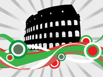 Floral Colosseum. Vector illustration of floral Colosseum Royalty Free Stock Images