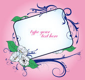 Floral coloured frame for elegant invitations Stock Photo