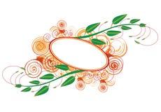 Floral colours banner. Designed by computer illustration royalty free illustration