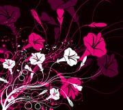 Floral com fundo ilustração stock