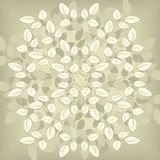 Floral composirion with leaves Royalty Free Stock Images