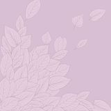 Floral composirion with leaves Stock Image