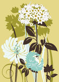 Floral composition. Vector illustration scale to any size. All elements and textures are individual objects Royalty Free Stock Photos