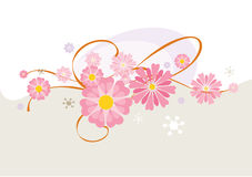 Floral Composition. Vector illustration of Floral Composition Stock Image