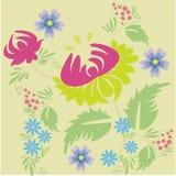 Floral composition. Folk floral compsition -  illustration Royalty Free Stock Image