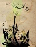 Floral composition. Grunge floral composition on old paper background vector illustration