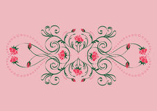 Floral composition. A floral composition with rose blossoms and curves Royalty Free Stock Photography