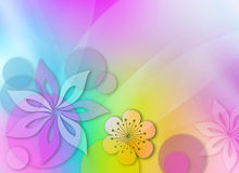 Floral composition. Abstact background with floral elements royalty free illustration