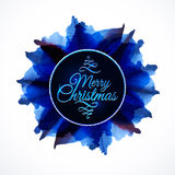 Floral composition background, lettering Merry Stock Images
