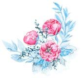 Watercolor floral composition vector illustration