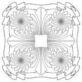 Floral composition drawing Royalty Free Stock Image