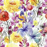 Floral composition. Mother`s Day, wedding, birthday, Easter, Valentine`s Day. stock photo