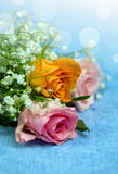 Floral composition. Roses in Bouquet Stock Photo