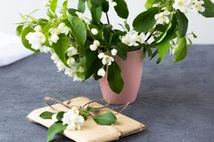 Floral composition on a spring sunny day. royalty free stock photo