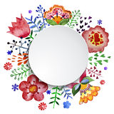 Floral composition, watercolor Stock Photo