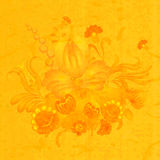Floral composition on the yellow background of old paper. Royalty Free Stock Photos