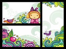 Floral compositions 3 royalty free illustration