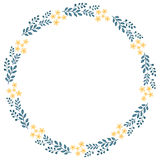 The floral concept of circle frame Royalty Free Stock Photo