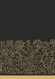Floral contour  border decor Royalty Free Stock Images