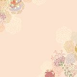 Floral contour  vornerdecor Stock Images