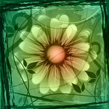 Floral Copyspace Shows Flower Boundary And Frame Royalty Free Stock Image
