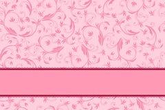 Floral cor-de-rosa do fundo com o teste padrão da curva sem emenda Fotos de Stock