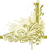 Floral corner. Illustration can be used for different purposes Royalty Free Stock Image