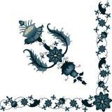 A floral corner Stock Image