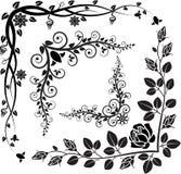 Floral corner. Set of floral corners - vector illustration Royalty Free Stock Images