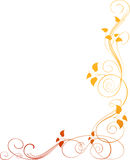 Floral corner Stock Image