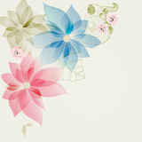 Floral corner card Royalty Free Stock Photos