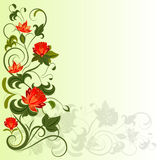 Floral corner design element Stock Photos